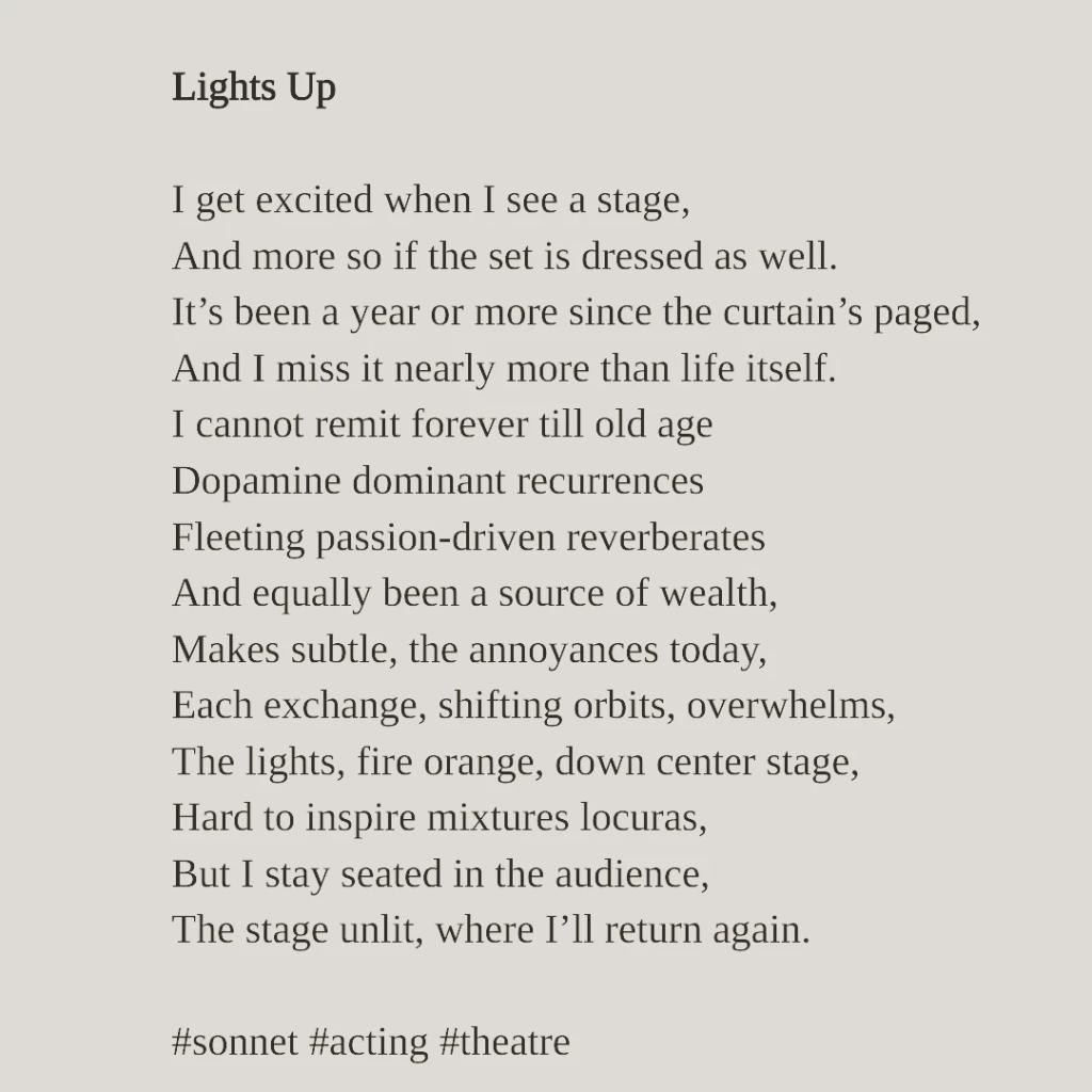 Poem Lights Up